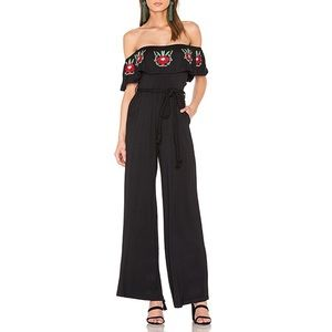 Off The Shoulder Floral Jumpsuit From Revolve